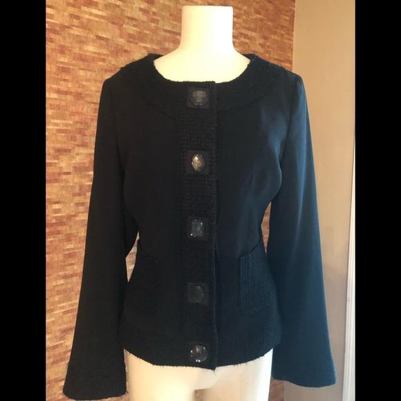 White House Black Market Jackets & Blazers - Black unique blazer size 6